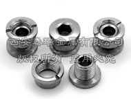 Titanium Chainring nut+Bolt